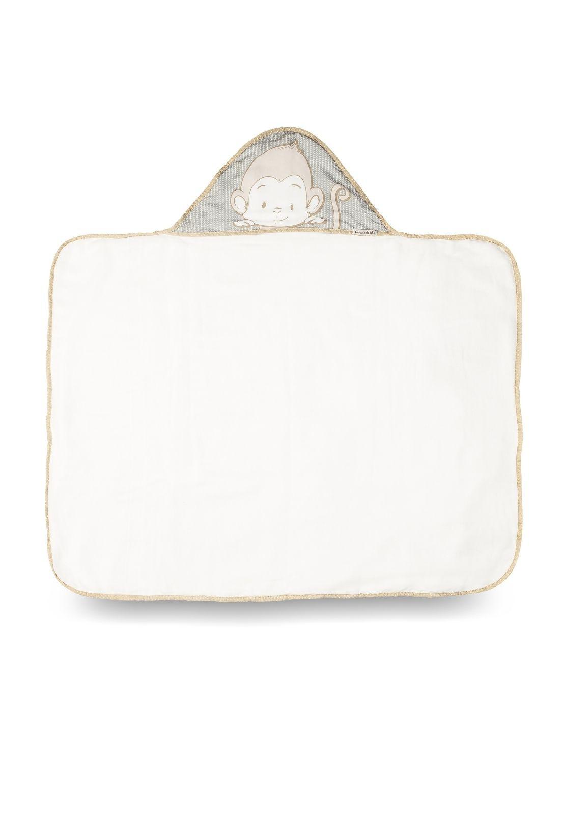 Toalha-fralda Capuz - Coleção Clássicos Cinza