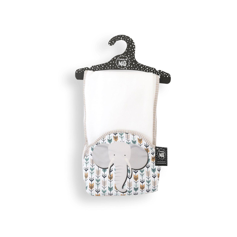 Toalha-fralda com Capuz- Coleção Selva Elefante