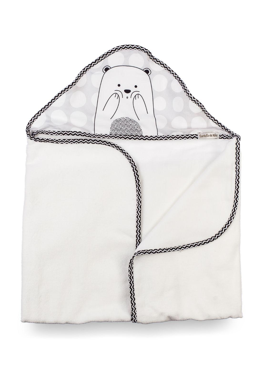 Toalha-fralda com Capuz - Coleção Ursos PB