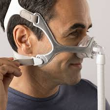 Cpap Airsense S10 AutoSet com umidificador Resmed + Máscara Nasal Wisp Tecido com almofadas P,M,G Philips