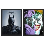 Kit 2 Placas Poster Minimalista Batman Piada Mortal