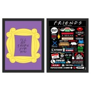 Kit 2 Placas Poster Minimalista Friends