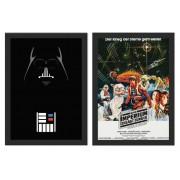 Kit 2 Placas Poster Minimalista Star Wars