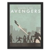 Placa Quadro Poster Minimalista Avengers