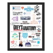 Placa Quadro Poster Minimalista Greys Anatomy