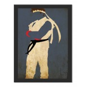 Placa Quadro Poster Minimalista Ryu