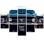 Quadro Painel Mosaico Decorativo 5 Partes Mustang