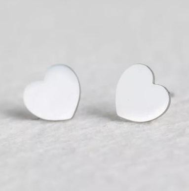 Brinco Feminino Coração Prata