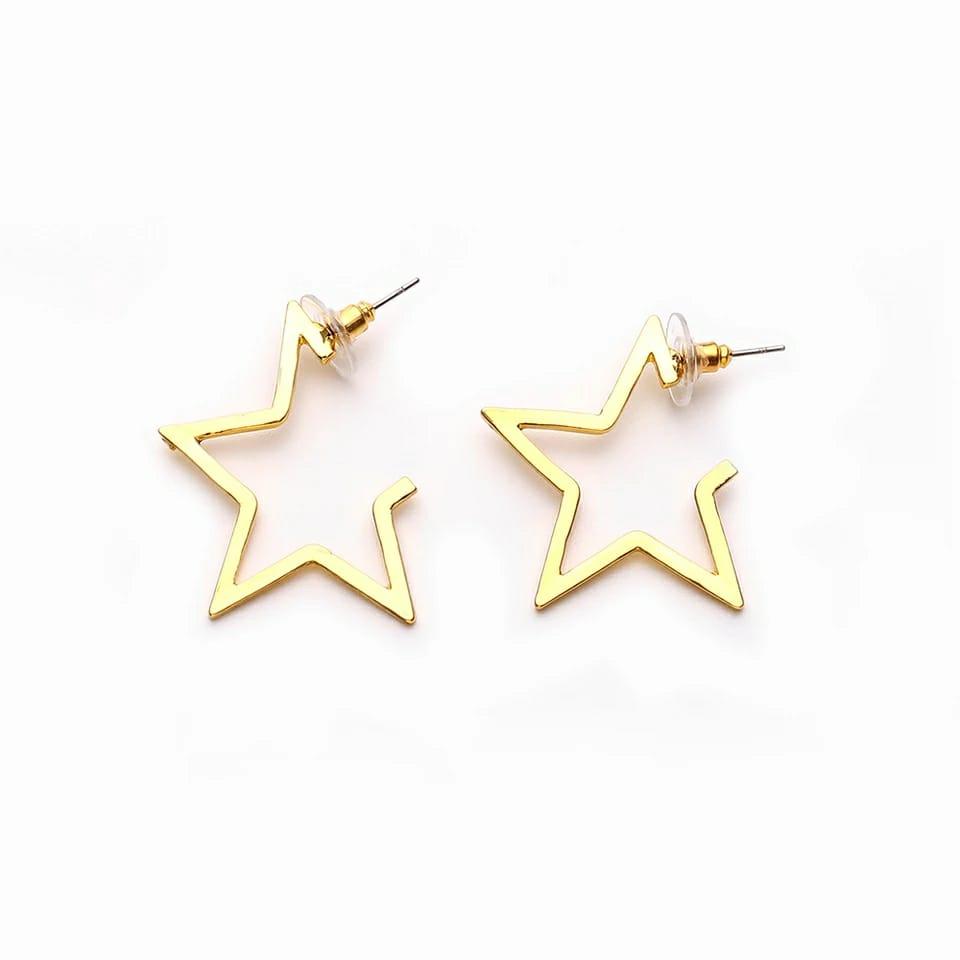 Brinco Feminino Estrela Dourado