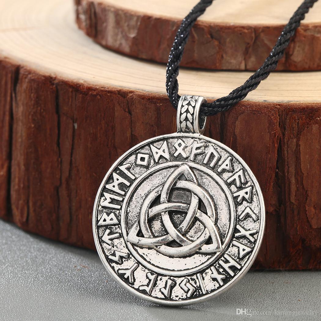Corrente Colar Simbolo Viking Cordao