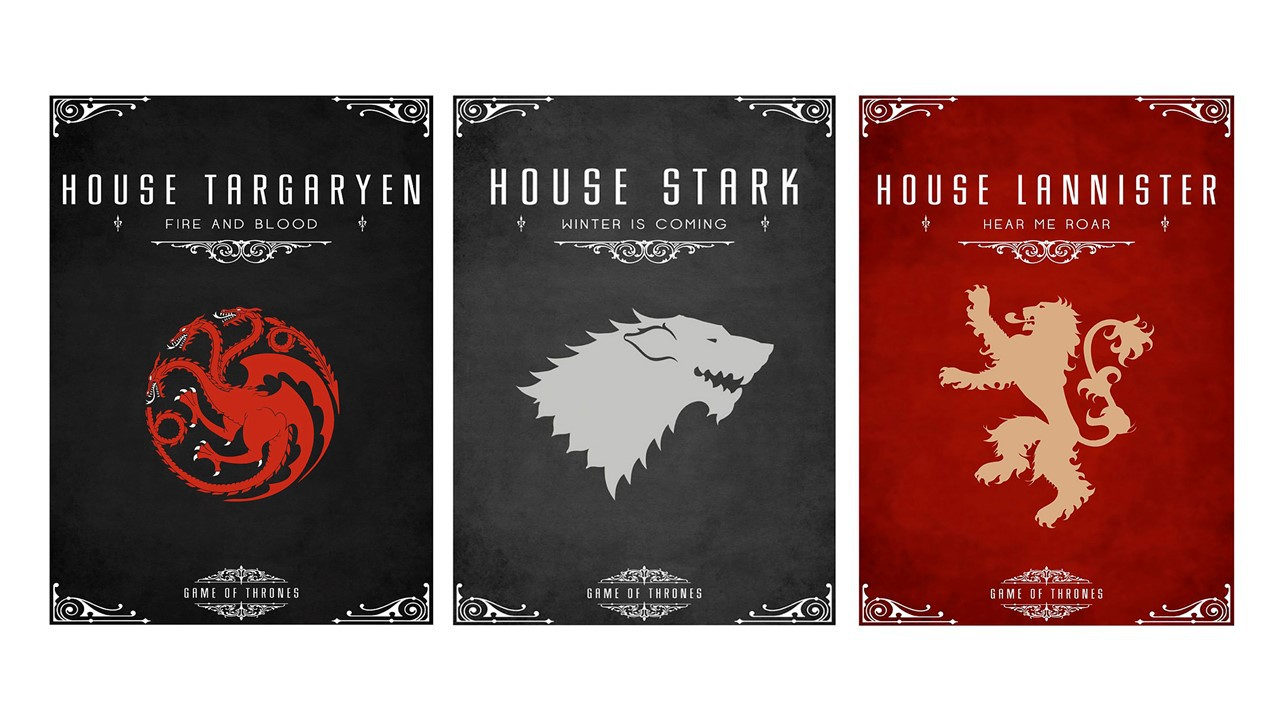 Diorama Kit 3 Placas Poster Minimalista Game of Thrones