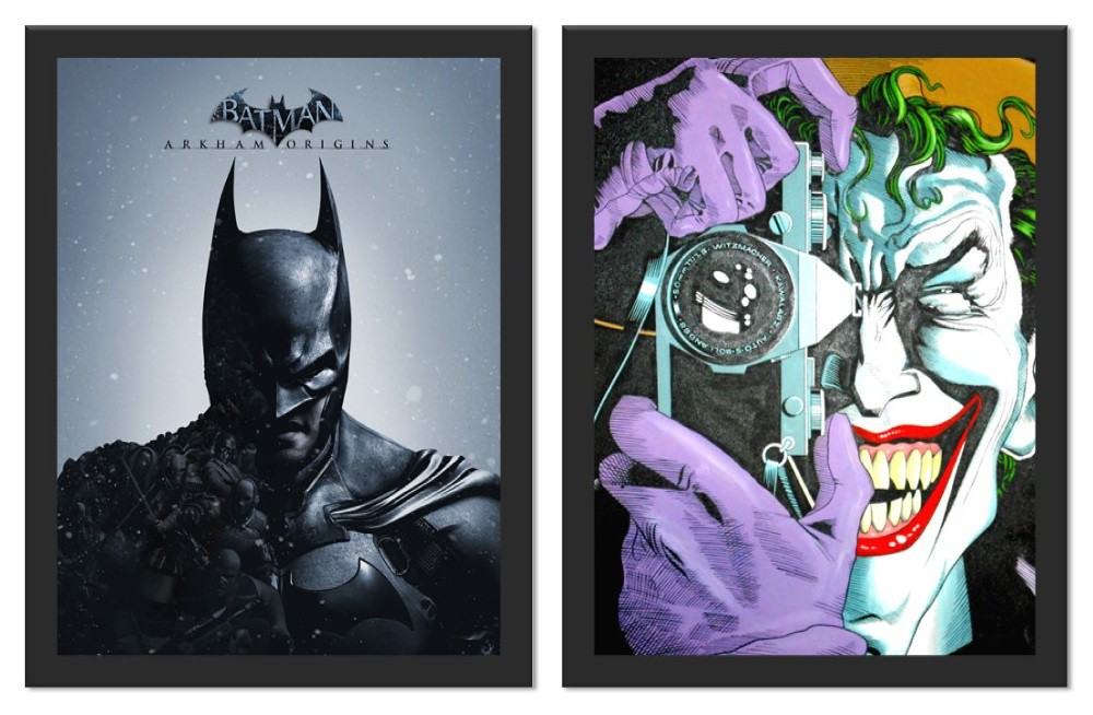 Kit 2 Placas Poster Minimalista Batman Piada Mortal