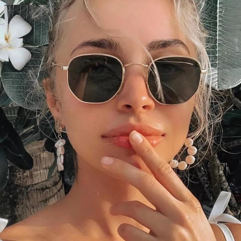 Oculos de Sol Feminino Hexagonal