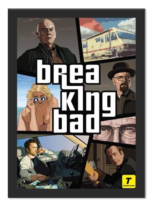 Placa Quadro Poster Minimalista BB GTA