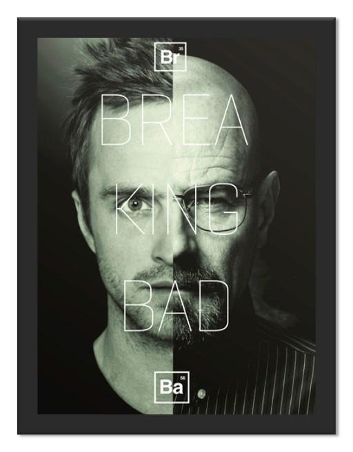 Placa Quadro Poster Minimalista BB Jesse e Walter