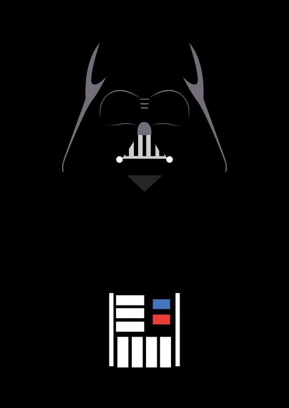 Placa Quadro Poster Minimalista Darth Vader