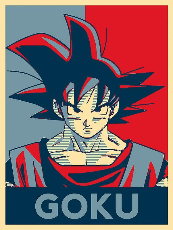Placa Quadro Poster Minimalista Goku Vermelho