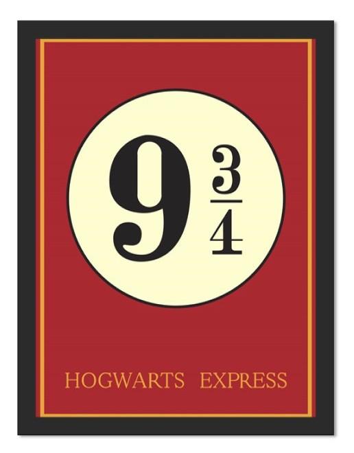 Placa Quadro Poster Minimalista Hogwarts 9/34
