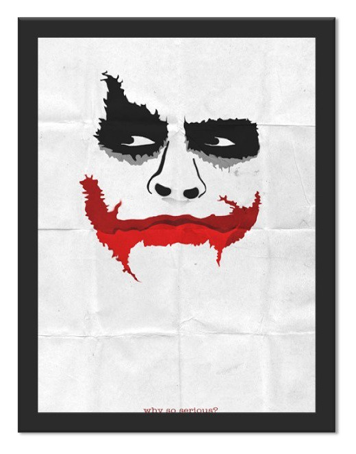 Placa Quadro Poster Minimalista Joker So Seryous