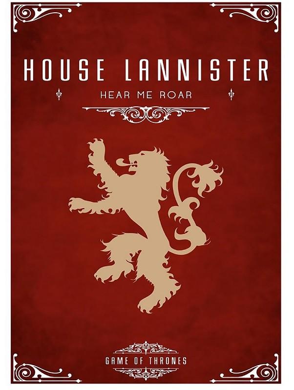Placa Quadro Poster Minimalista Lannister Casa