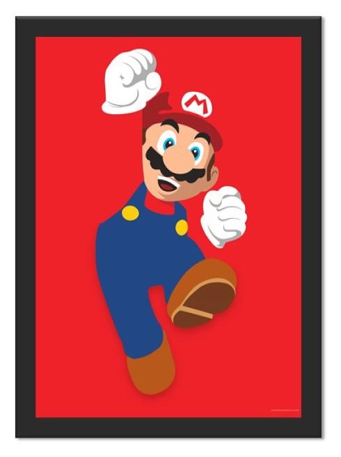 Placa Quadro Poster Minimalista Mario