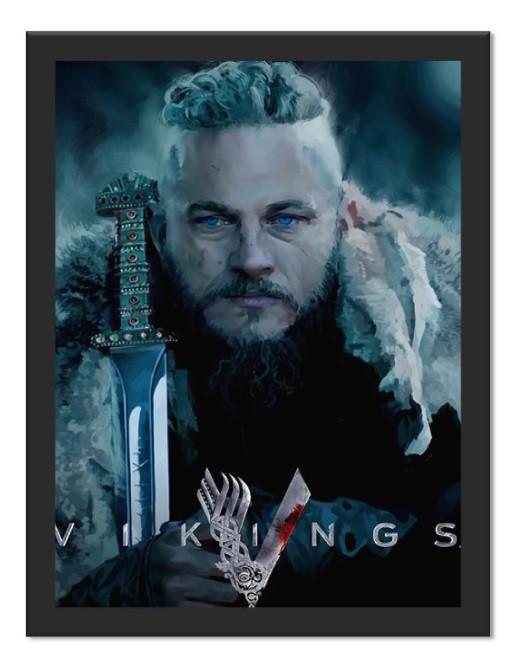 Placa Quadro Poster Minimalista Ragnar Olhos Azuis
