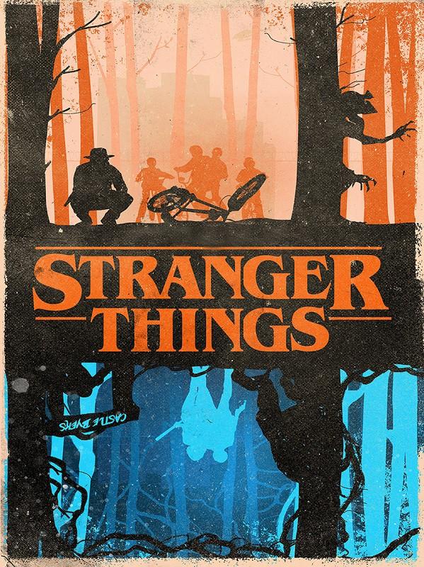 Placa Quadro Poster Minimalista Stranger Things Invertido