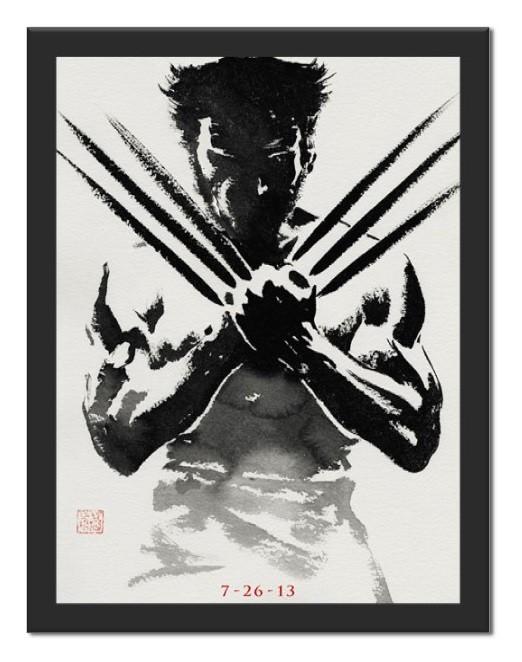 Placa Quadro Poster Minimalista Wolverine