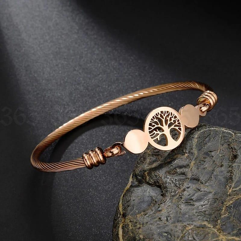 Pulseira Bracelete Arvore da Vida Rose