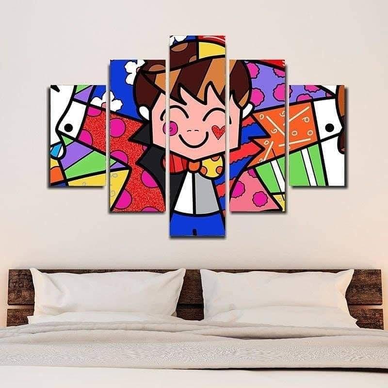 Quadro Painel Mosaico Decorativo 5 Partes Abraço Menito