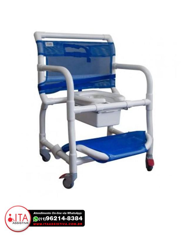 Cadeira de Banho e Higiênica em PVC p/Obeso - 300CLO