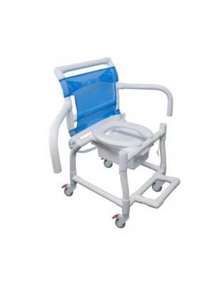Cadeira de Banho Higiênica em PVC c/Braços Escamoteáveis - 310CL