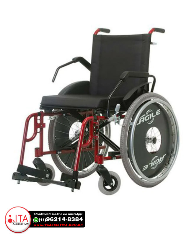 Cadeira de Rodas Ágile Fat - Jaguaribe