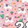28 lhama rosa