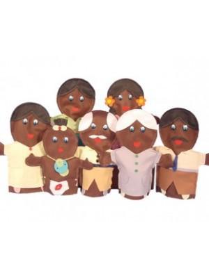 Fantoche Família Negra Feltro