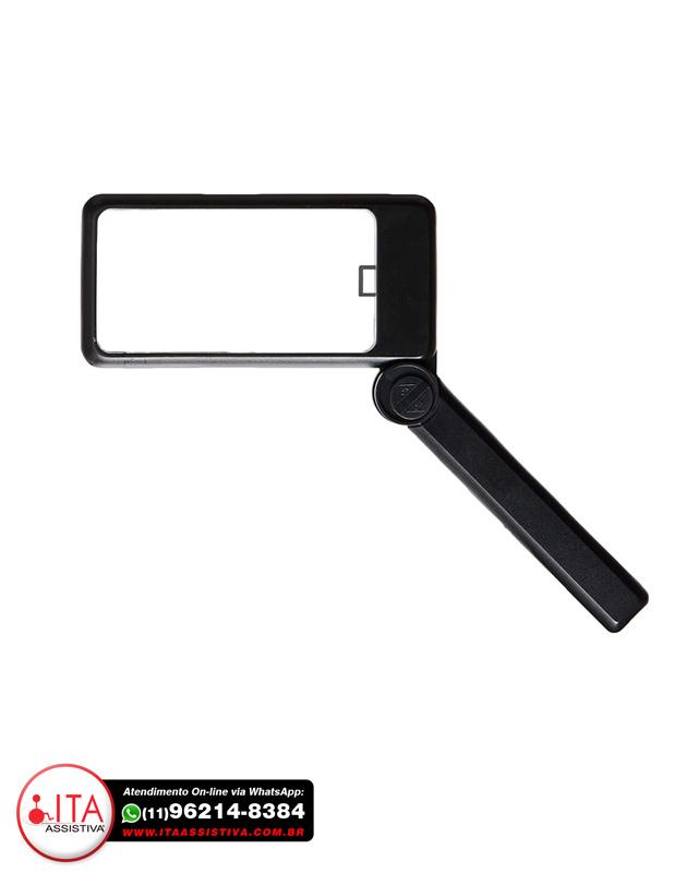 Lupa Retangular Retrátil com Iluminação - Ref.: 3545