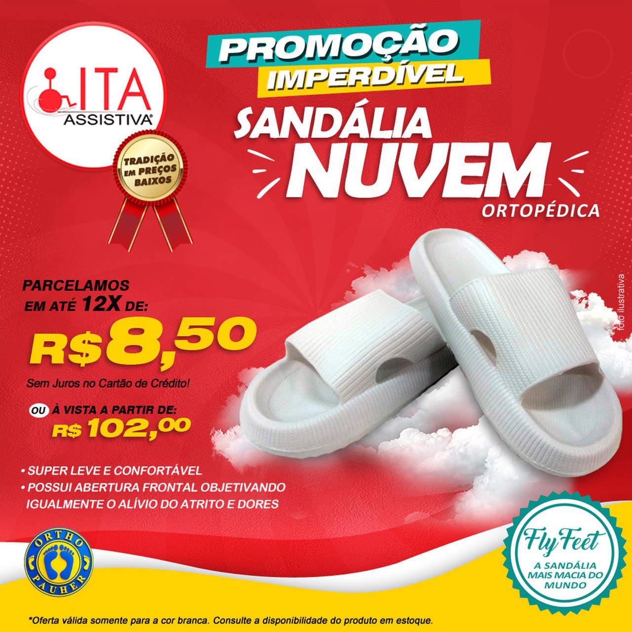 Sandália Fly Feet Nuvem BRANCA