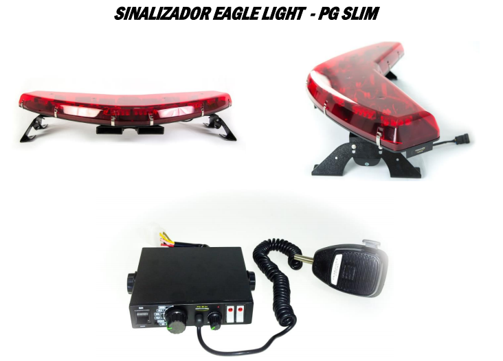 Giro flex  Eagle light power com sirene, comando PG slim e chicotes
