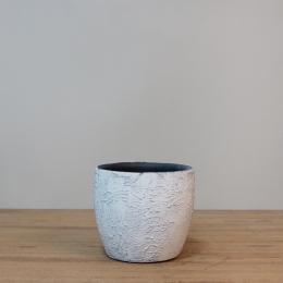 Vaso Cerâmica Emil Branco D15 A13