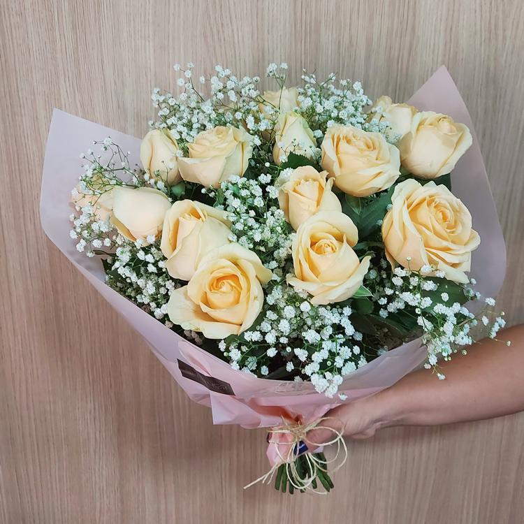 Buquê de Rosas - Coração de Ouro