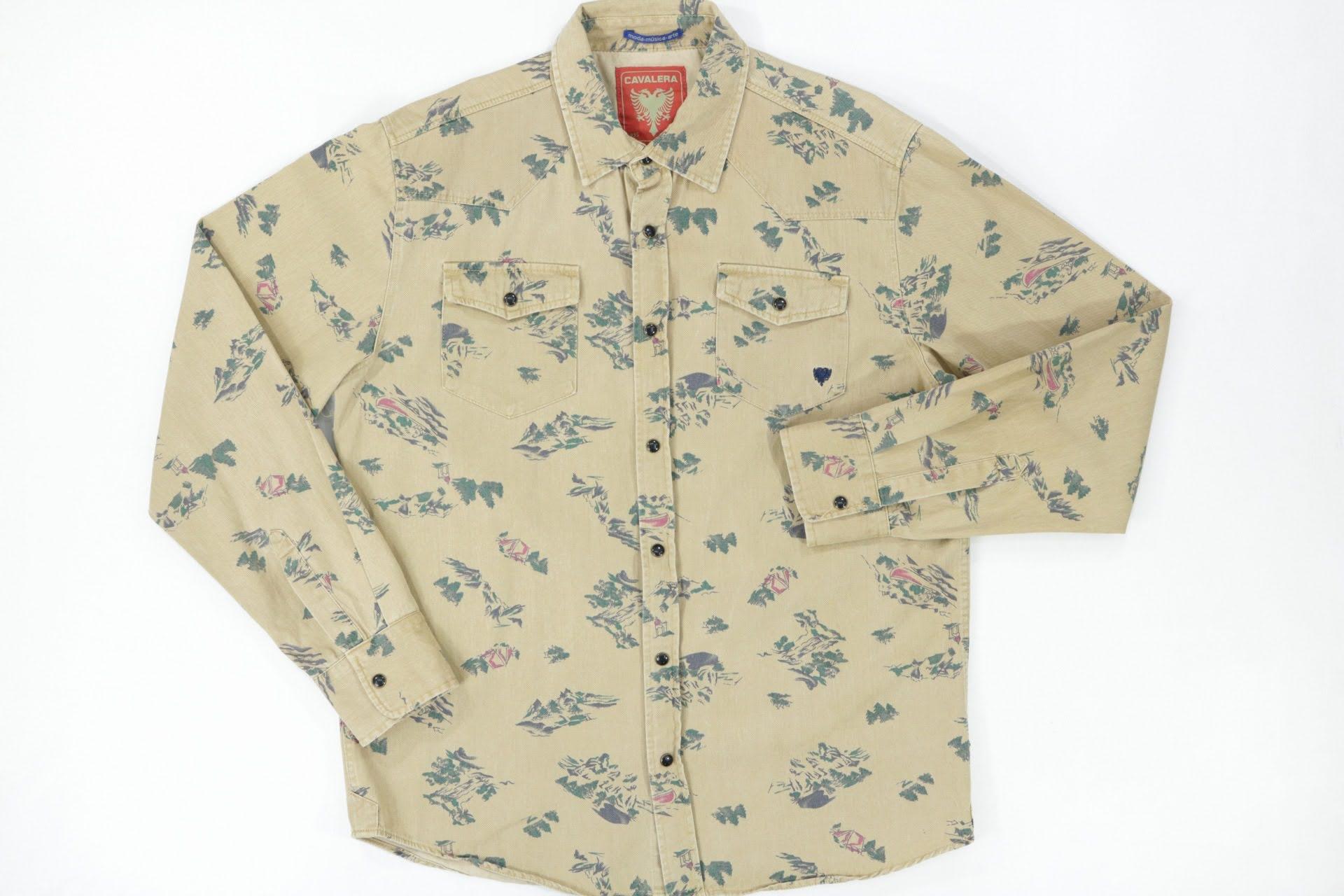 Camisa Estampada Cavalera - Tam M
