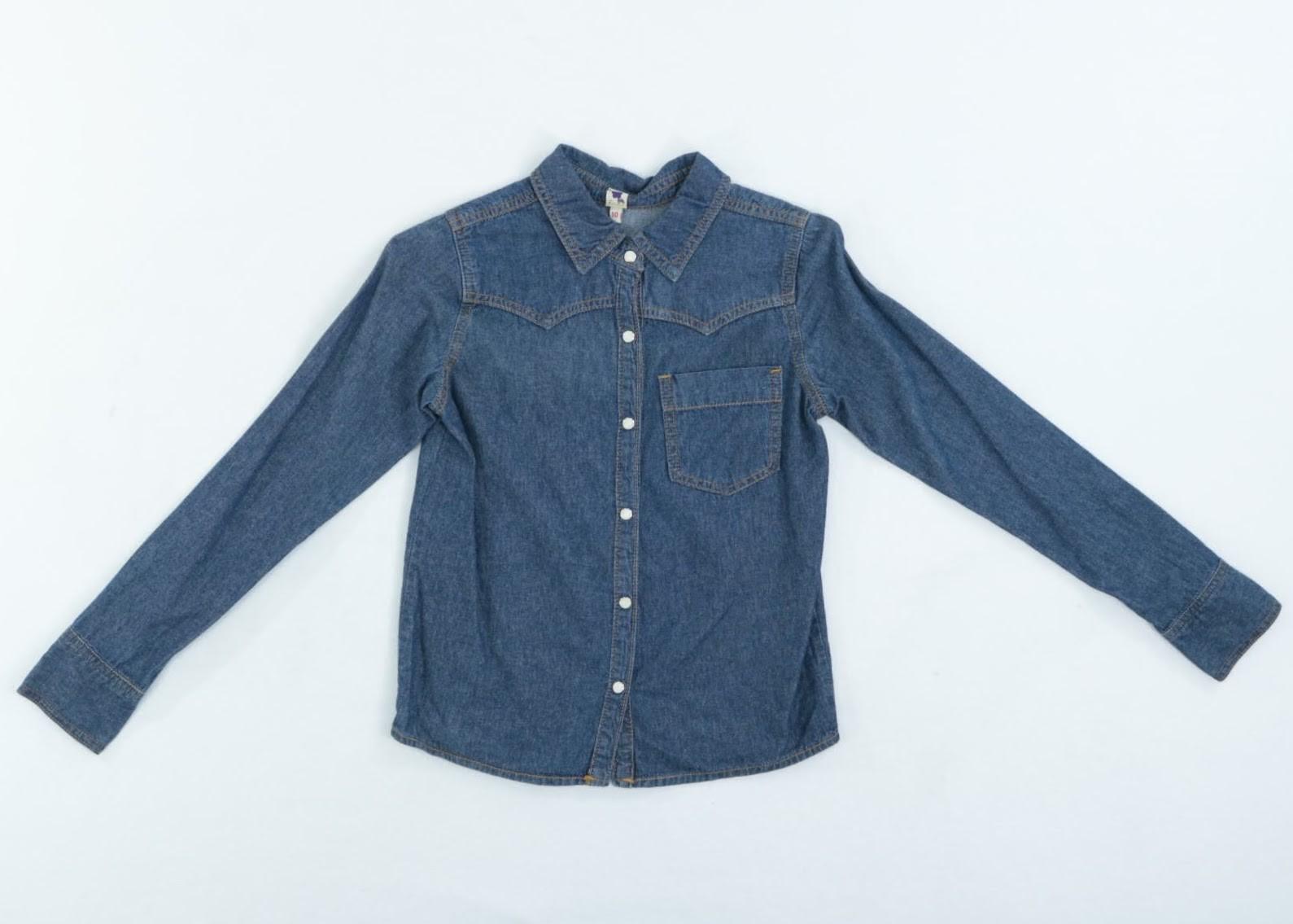 Camisa Jeans - Fábula - 10 Anos
