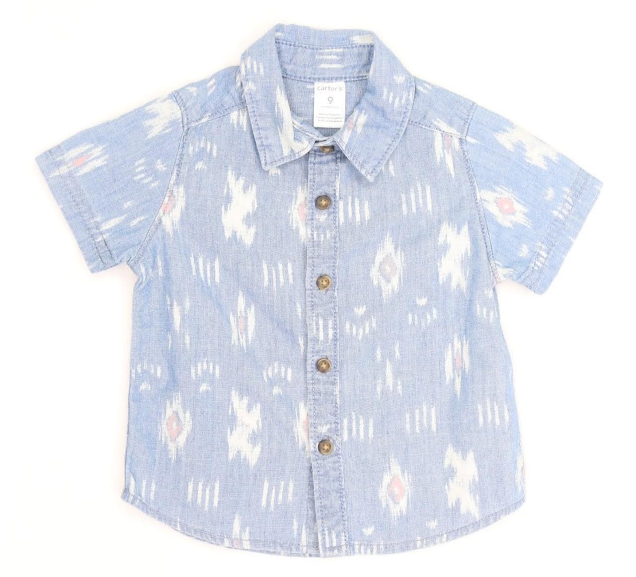 Camisa Manga Curta - Carter's - 09 Meses