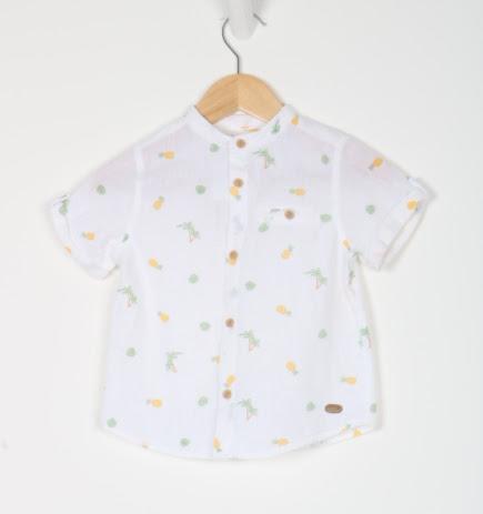 Camisa Manga Curta - Zara - 02 Anos
