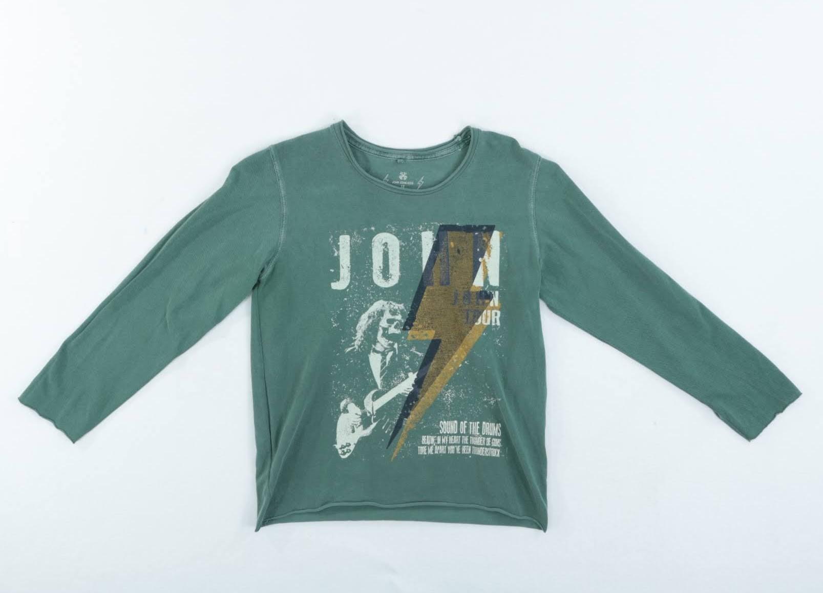 Camiseta Manga Longa - John John - 12 Anos