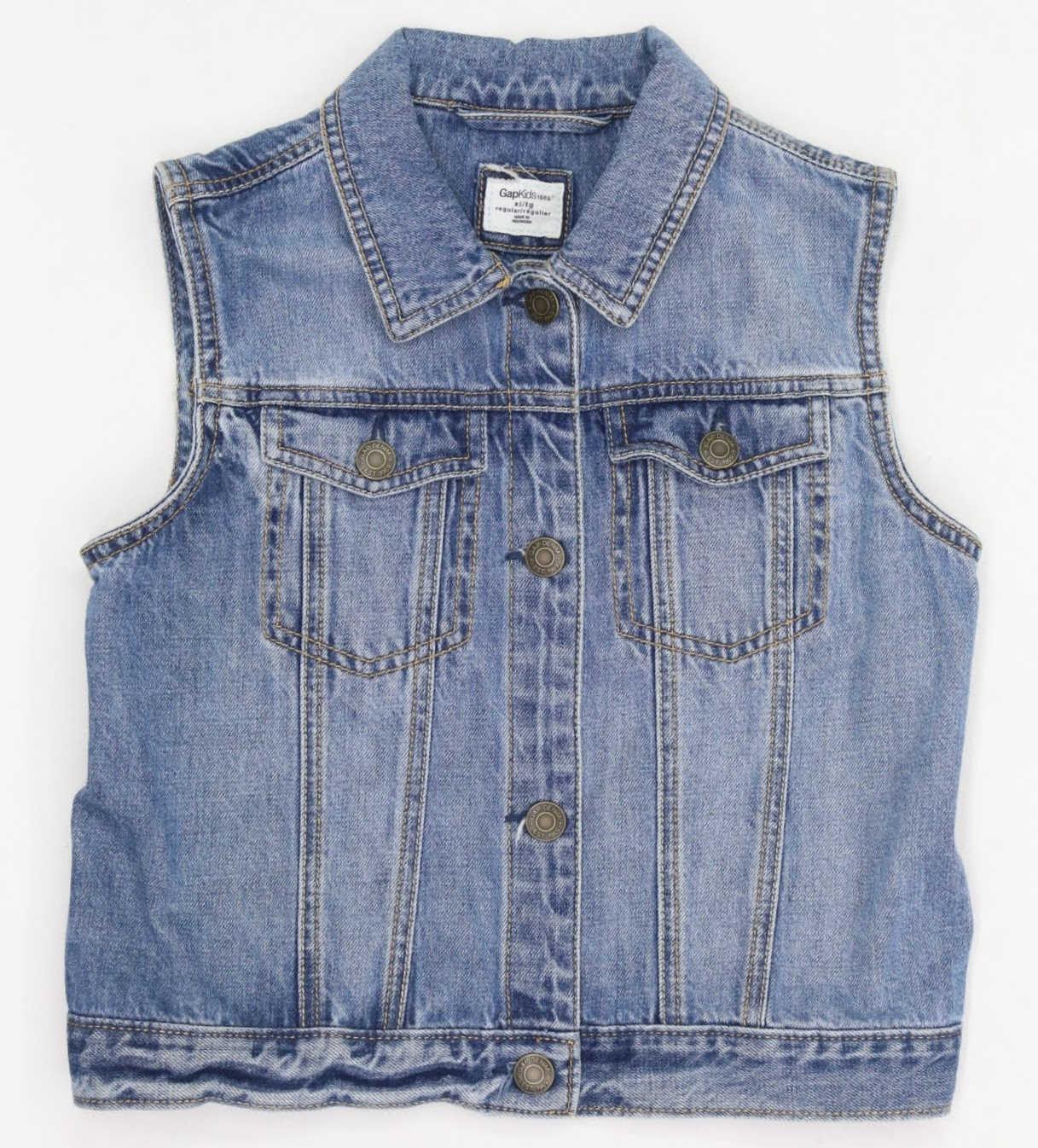 Colete Jeans - GAP - 10 Anos