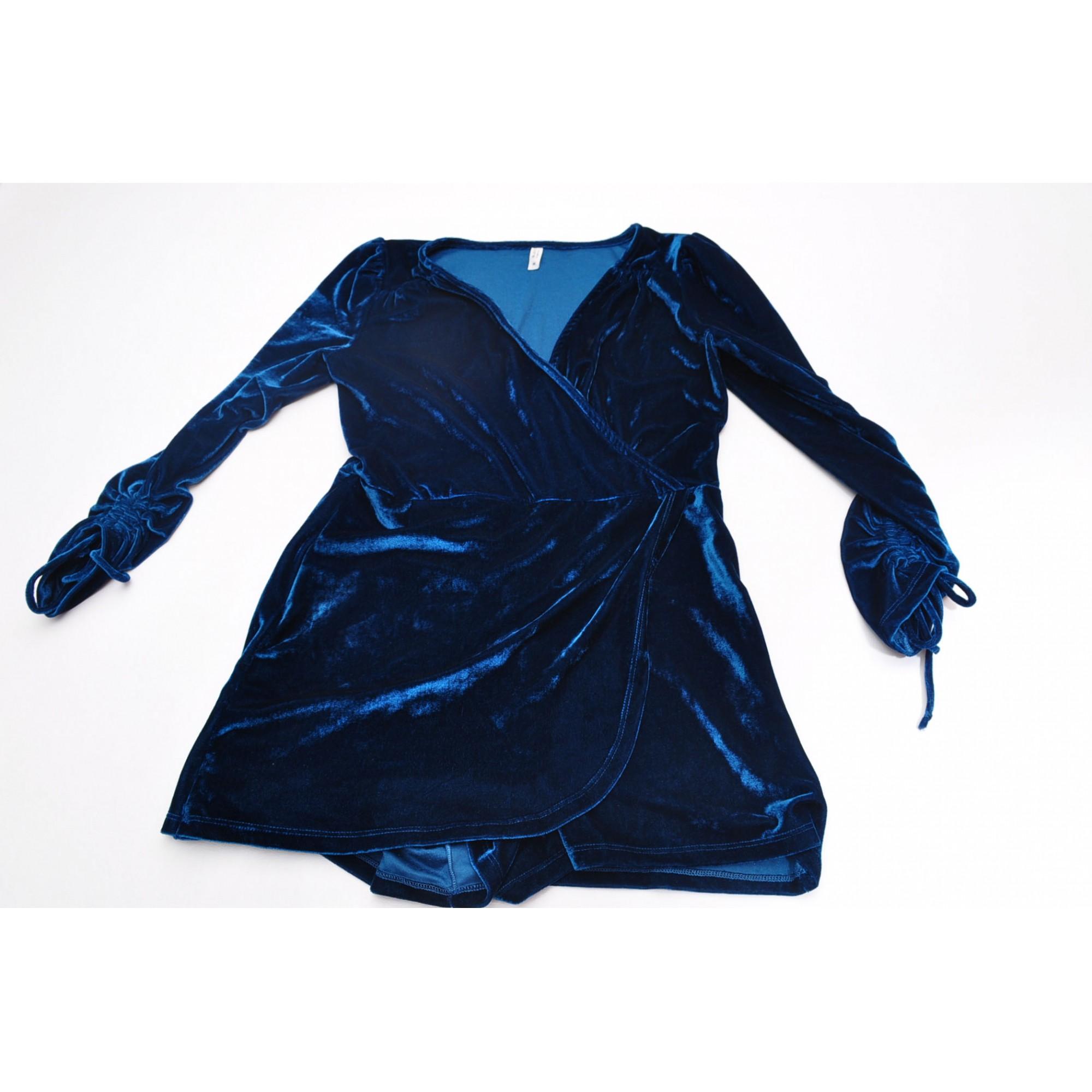 Macaquinho veludo Blue Steel - TAM M