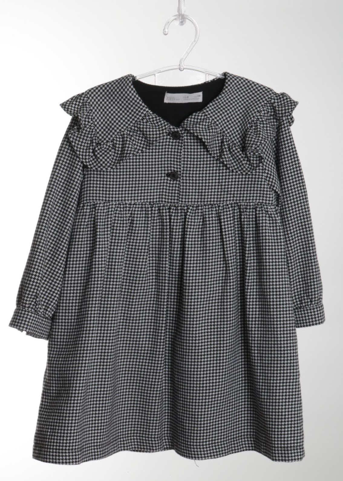 Vestido Manga Longa - Zara - 06 Anos