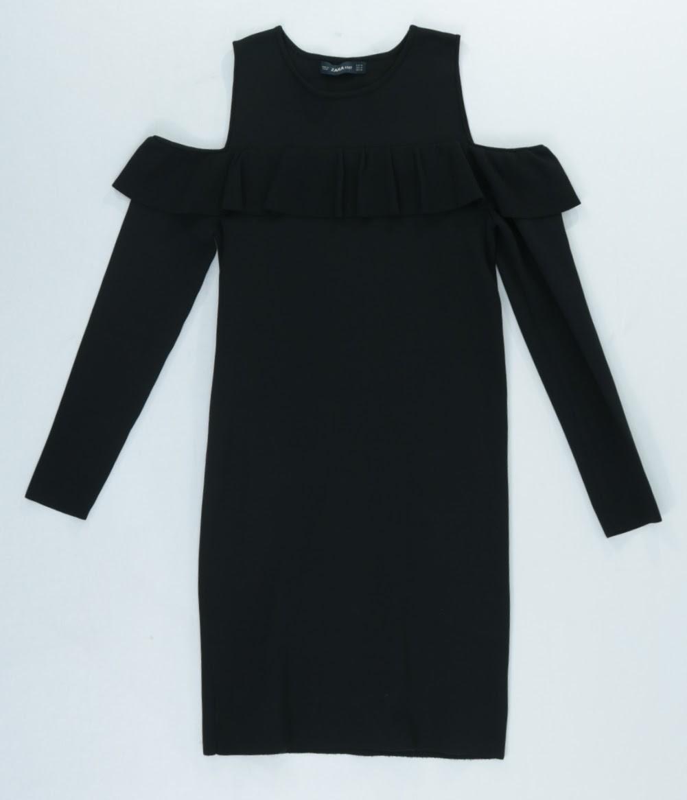 Vestido Manga Longa - Zara - M