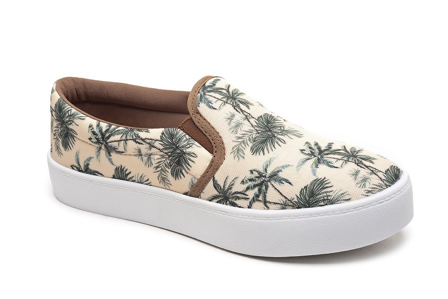 SLIP ON FEMININO ESTAMPADO / ATACADO 12 PARES